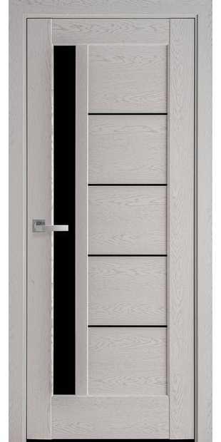 Межкомнатные двери Грета с черным стеклом greta-36