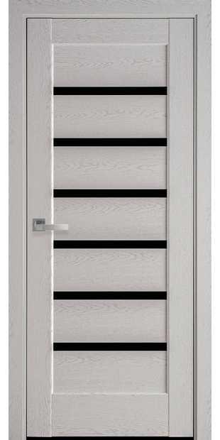 Межкомнатные двери Линнея С черным стеклом linneya-51
