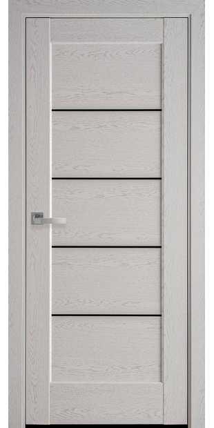 Межкомнатные двери Мира с черным стеклом mira-34
