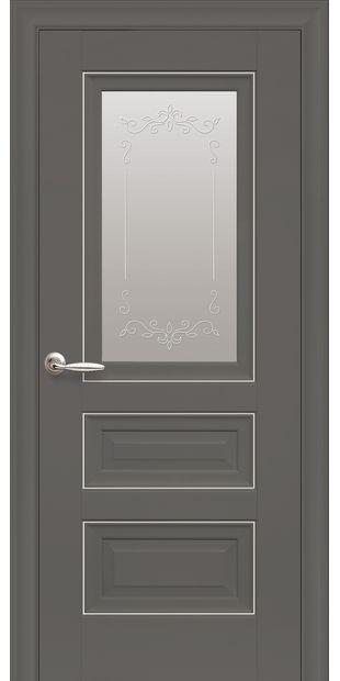 Межкомнатные двери Статус Со стеклом сатин, молдингом и рисунком  Статус