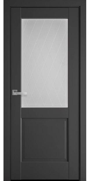Межкомнатные двери Эпика со стеклом сатин и рисунком Р2 jepyka-2