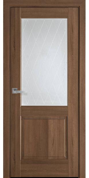 Межкомнатные двери Эпика со стеклом сатин и рисунком Р2 jepyka-8