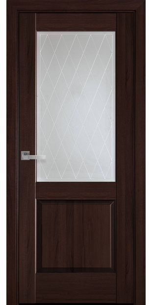 Межкомнатные двери Эпика со стеклом сатин и рисунком Р2 jepyka-12