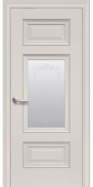 Межкомнатные двери Шарм Со стеклом сатин, молдингом и рисунком  Charm-6