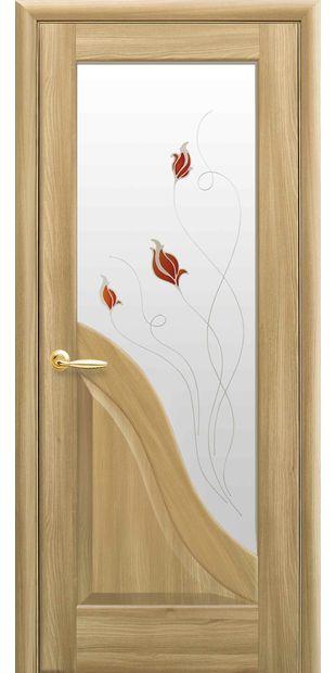 Межкомнатные двери Амата со стеклом сатин и рисунком Р1 amata-28