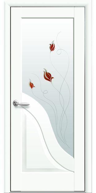 Межкомнатные двери Амата со стеклом сатин и рисунком Р1 amata-35