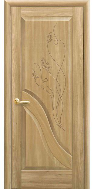 Межкомнатные двери Амата глухое с гравировкой amata-56