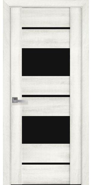 Межкомнатные двери Аскона с черным стеклом askona10