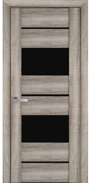 Межкомнатные двери Аскона с черным стеклом askona2