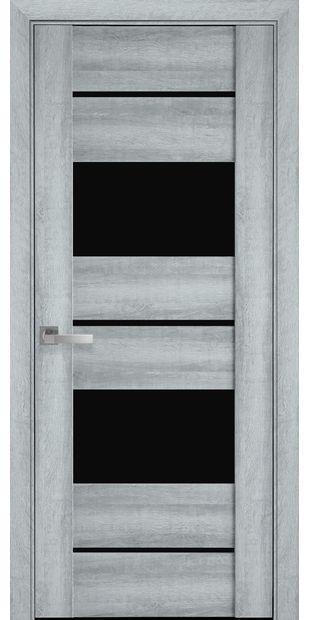 Межкомнатные двери Аскона с черным стеклом askona4