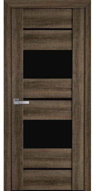Межкомнатные двери Аскона с черным стеклом askona6