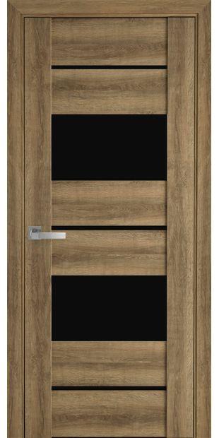 Межкомнатные двери Аскона с черным стеклом askona8
