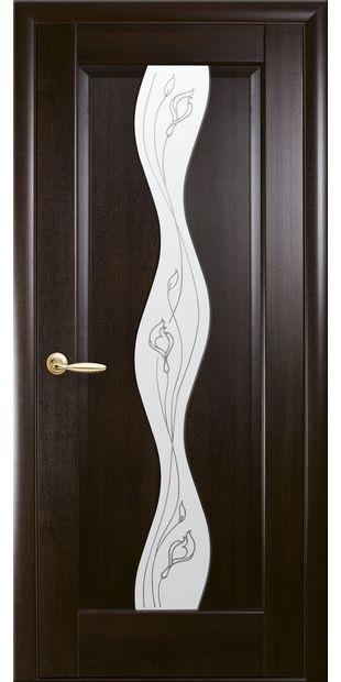 Межкомнатные двери Волна со стеклом сатин и рисунком baisse-2