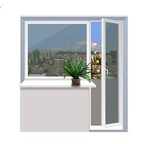 Балконний блок Rehau 2040x2160 мм balkonnyy-blok-rehau-2040x2160-mm