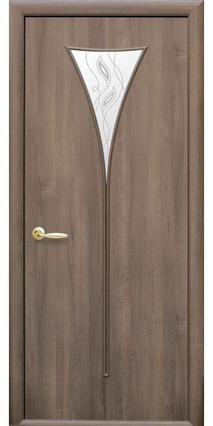 Межкомнатные двери Бора со стеклом сатин и рисунком Р2 bora-26
