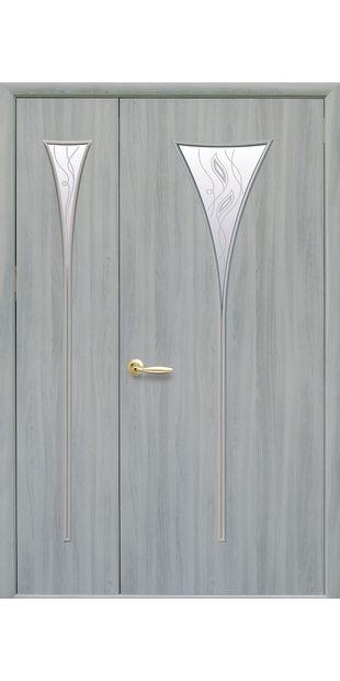 Межкомнатные двери Бора со стеклом сатин и рисунком bora-54
