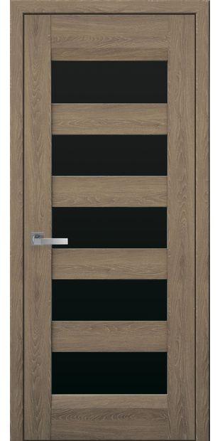 Межкомнатные двери Бронкс с черным стеклом bronx-1