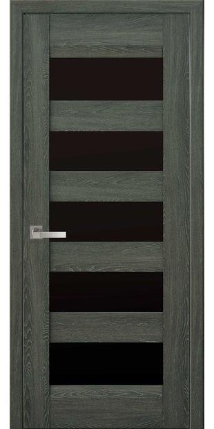 Межкомнатные двери Бронкс с черным стеклом bronx-3