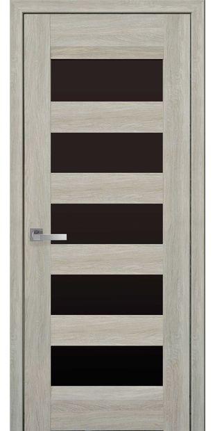 Межкомнатные двери Бронкс с черным стеклом bronx-5