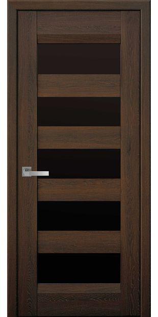 Межкомнатные двери Бронкс с черным стеклом bronx-7