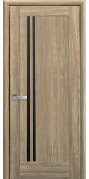 Межкомнатные двери Делла с черным стеклом della-1