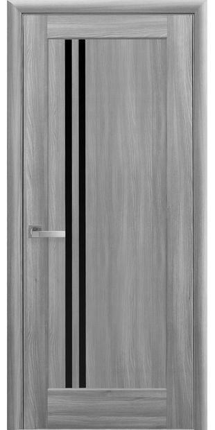 Межкомнатные двери Делла с черным стеклом della-4