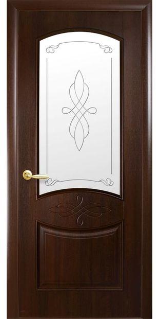 Межкомнатные двери Донна со стеклом сатин и рисунком donna-5