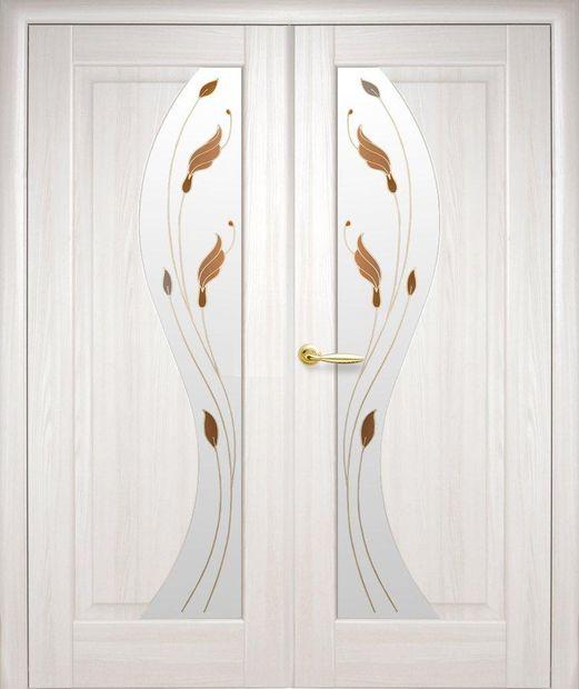 Двери двустворчатые Эскада ясень делюкс со стеклом Р1 dveri-dvustvorchatye-jeskada-jasen-deljuks-so-steklom-r1