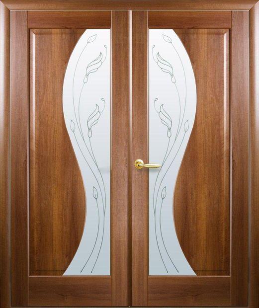 Двери двустворчатые Эскада золотая ольха делюкс со стеклом Р2 dveri-dvustvorchatye-jeskada-zolotaja-olha-deljuks-so-steklom-r2