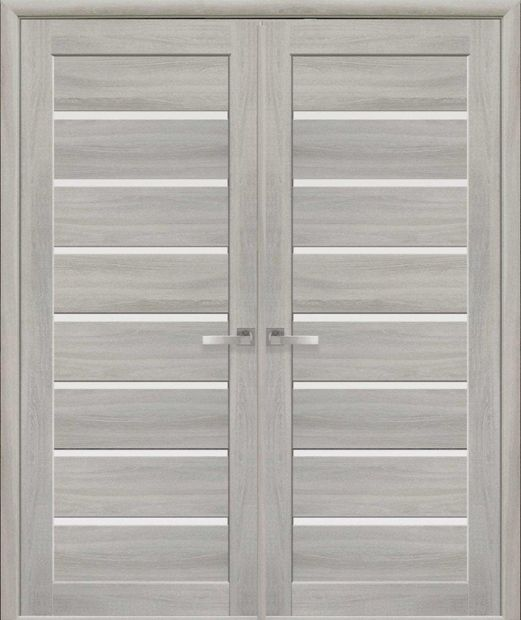 Двери двустворчатые Леона ясень патина стекло Сатин dveri-dvustvorchatye-leona-jasen-patina-steklo-satin