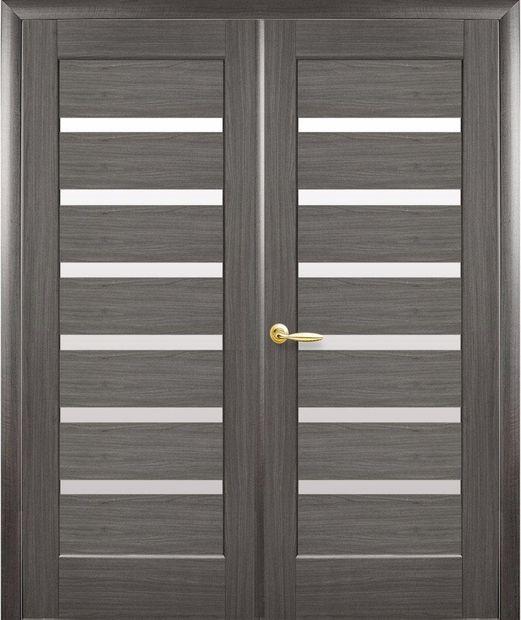 Двери двустворчатые Линнея грей делюкс New стекло Сатин dveri-dvustvorchatye-linneja-grej-deljuks-new-steklo-satin