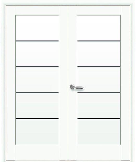 Двери двустворчатые Мира Black белый мат премиум стекло черное dveri-dvustvorchatye-mira-black-belyj-mat-premium-steklo-chernoe