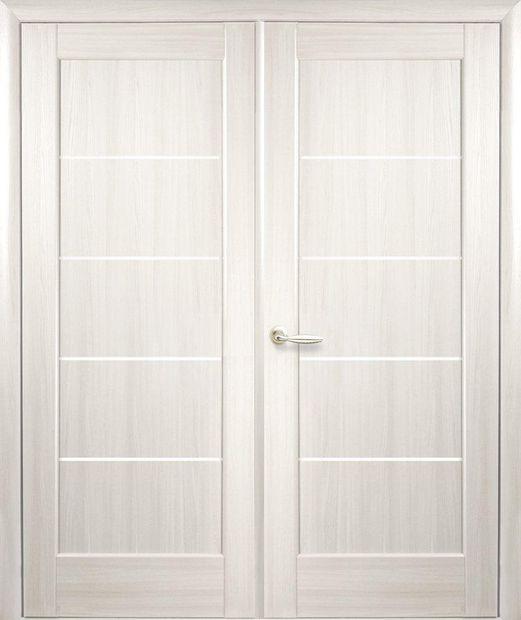 Двери двустворчатые Мира ясень делюкс стекло Сатин dveri-dvustvorchatye-mira-jasen-deljuks-steklo-satin