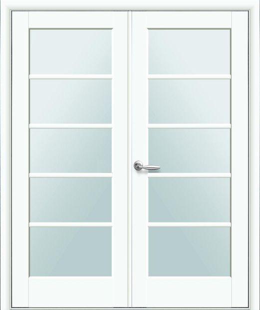 Двери двустворчатые Муза белый мат премиум стекло Сатин dveri-dvustvorchatye-muza-belyj-mat-premium-steklo-satin