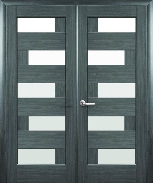 Двери двустворчатые Пиана грей делюкс New стекло Сатин dveri-dvustvorchatye-piana-grej-deljuks-new-steklo-satin