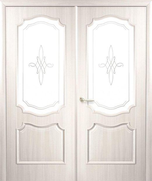 Двери двустворчатые Рока ясень делюкс со стеклом Р1 dveri-dvustvorchatye-roka-jasen-deljuks-so-steklom-r1