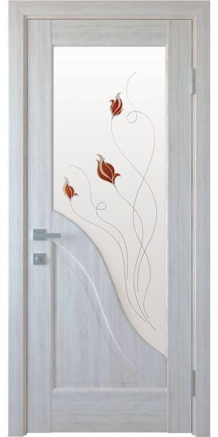 Межкомнатные двери Амата со стеклом сатин и рисунком Р1 dvernoe-polotno-pvh-deluxe-amata-so-steklom-satin-i-risunkom-r1-2