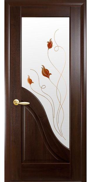 Межкомнатные двери Амата со стеклом сатин и рисунком Р1 dvernoe-polotno-pvh-deluxe-amata-so-steklom-satin-i-risunkom-r1