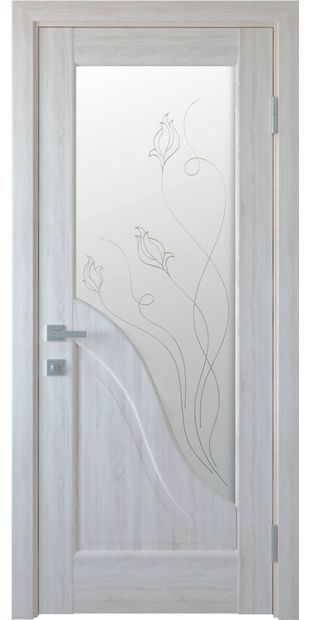 Межкомнатные двери Амата со стеклом сатин и рисунком Р2 dvernoe-polotno-pvh-deluxe-amata-so-steklom-satin-i-risunkom-r2-2