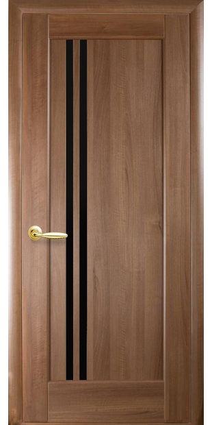Межкомнатные двери Делла с черным стеклом dvernoe-polotno-pvh-deluxe-dellita-s-cernym-steklom-1