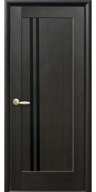 Межкомнатные двери Делла с черным стеклом dvernoe-polotno-pvh-deluxe-dellita-s-cernym-steklom-3