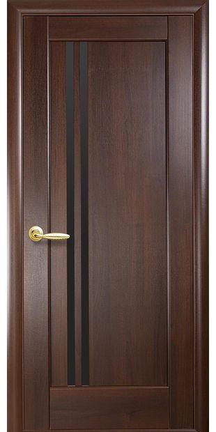 Межкомнатные двери Делла с черным стеклом dvernoe-polotno-pvh-deluxe-dellita-s-cernym-steklom