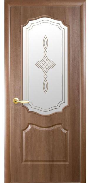 Межкомнатные двери Вензель со стеклом сатин и рисунком dvernoe-polotno-pvh-deluxe-venzel-so-steklom-satin-i-risunkom-r1-1