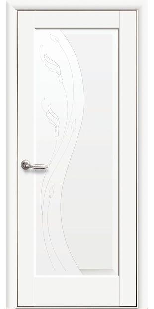 Межкомнатные двери Ескада глухое с гравировкой eskada-10