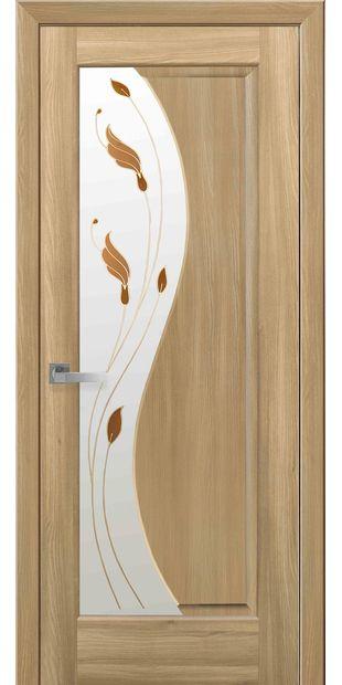 Межкомнатные двери Эскада со стеклом сатин и рисунком eskada-14