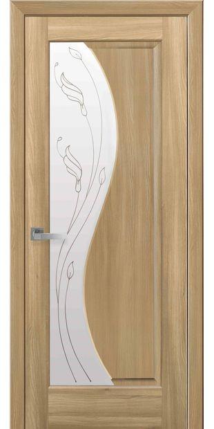 Межкомнатные двери Эскада со стеклом сатин и рисунком eskada-19
