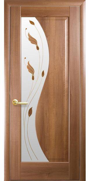 Межкомнатные двери Эскада со стеклом сатин и рисунком Р1 eskada-2