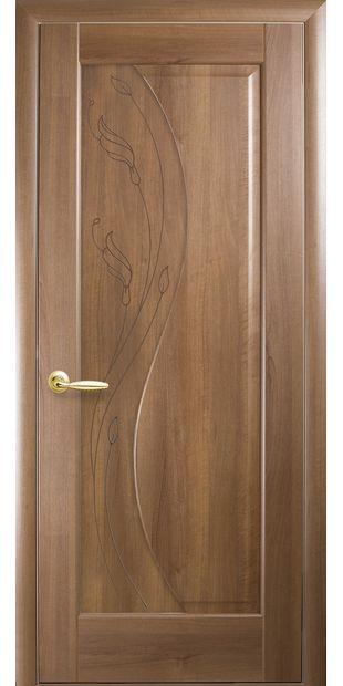 Межкомнатные двери Эскада глухое с гравировкой eskada-22