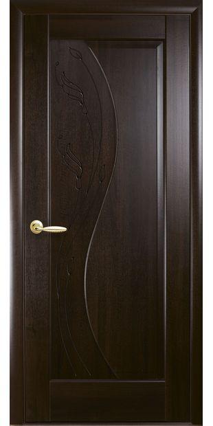 Межкомнатные двери Эскада глухое с гравировкой eskada-24