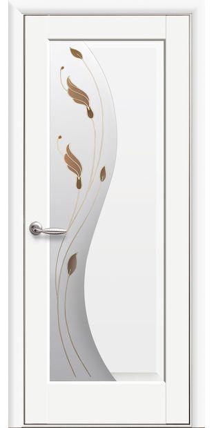 Межкомнатные двери Эскада со стеклом сатин и рисунком eskada-30